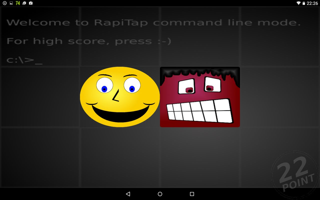 [Image of RapiTap! smiley theme at 4x3]
